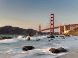 Michele Falzone - California, San Francisco, Baker's Beach and Golden Gate Bridge, USA Fotografická reprodukce