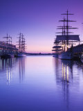 Massachusetts, Boston, Sail Boston Tall Ships Festival, Tall Ships by World Trade Center, USA Photographic Print by Walter Bibikow