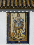 Mural of One of Historic Spanish Kings Adorns Wall of House, Santa Cruz District of Seville, Spain Photographic Print by John Warburton-lee