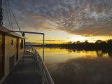 Amazon River, Sunrise on the Ayapua Riverboat, Yavari River, a Tributary of the Amazon River, Peru Photographic Print by Paul Harris
