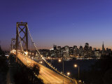 California, San Francisco, Oakland Bay Bridge and City Skyline, USA Photographic Print by Michele Falzone
