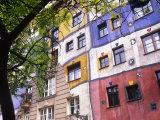 Hundertwasser Haus, Apartment House Designed by Artist Friedensreich Hundertwasser, Vienna, Austria Photographic Print by Paul Harris
