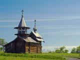 Karelia, Lake Onega, Kizhi Island, Church of Resurrection of Lazarus, Russia Photographic Print by Nick Laing