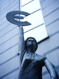 Statue, European Parliament, Brussels, Belgium Photographic Print by Neil Farrin
