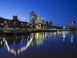 Buenos Aires, Puerto Madero, Highrise Buildings, Dusk, Argentina Photographic Print by Walter Bibikow