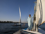 Feluccas Sailing on the Nile at Luxor, Egypt Photographic Print by Julian Love