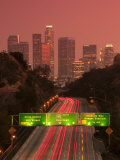 California, Los Angeles, Route 110, USA Fotografie-Druck von Alan Copson