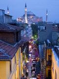 Hagia Sophia, Sultanahmet District, Istanbul, Turkey Fotografisk tryk af Peter Adams