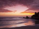 Sunset over Surfers, Biarritz, Pyrenees Atlantiques, Aquitaine, France Fotodruck von Doug Pearson
