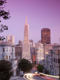California, San Francisco, Downtown and Transamerica Building from Telegraph Hill Historic District Photographic Print by Alan Copson