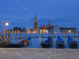 Gondolas, St, Mark's Square, Venice, Italy Photographic Print by Doug Pearson