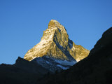 Matterhorn Sunrise on the Mountain, Zermatt, Valais, Switzerland Photographic Print by Christian Kober