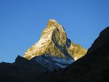 Matterhorn Sunrise on the Mountain, Zermatt, Valais, Switzerland Photographic Print by Christian Kober