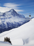 Eiger, Grindelwald, Jungfrau Region, Bernese Oberland, Switzerland Fotografisk tryk af Gavin Hellier