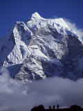 Climbers on Ridge in Dodh Koshir River Valley Photograph Himalayan Peak of Everest Range Photographic Print by Mark Hannaford