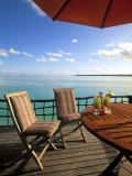 Pearl Beach Resort, Akitua Motu, Aitutaki, Cook Islands Photographic Print by Walter Bibikow