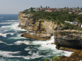 The Sandstone Cliffs of Gap - an Ocean Lookout Near the Entrance to Sydney Harbour, Australia Photographic Print by Andrew Watson