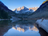 Colorado, Maroon Bells Mountain Reflected in Maroon Lake, USA Photographic Print by Alan Copson