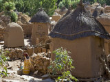 Dogon Country, an Attractive Dogon Village on Top of the Bandiagara Escarpment, Mali Photographic Print by Nigel Pavitt