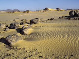 Northern or Libyan Desert in Northwest Sudan Is an Easterly Extension of the Great Sahara Desert Photographic Print by Nigel Pavitt