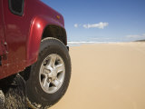 Queensland, Fraser Island, Four Wheel Driving on Sand Highway of Seventy-Five Mile Beach, Australia Photographic Print by Andrew Watson
