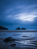 Cornwall, Holywell Bay, Holywell Beach and Carters or Gulls Rocks, UK Photographic Print by Alan Copson