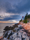 Maine, Mount Desert Island, Bas Harbor, Bas Harbor Lighthouse, USA Photographic Print by Alan Copson