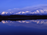 Mount Mckinley from Reflection Lake, Denali National Park, Alaska, USA Photographic Print by John Warburton-lee