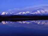 Mount Mckinley from Reflection Lake, Denali National Park, Alaska, USA Photographic Print by John Warburton-lee