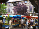 Market Day, Mirepoix, Ariege, Midi-Pyrenees, France Photographic Print by Doug Pearson
