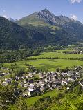 Doug Pearson - Village D'Aucun and Arrens-Marsous, Hautes-Pyrenees, Midi-Pyrenees, France - Fotografik Baskı