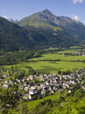 Village D'Aucun and Arrens-Marsous, Hautes-Pyrenees, Midi-Pyrenees, France Photographic Print by Doug Pearson