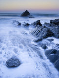Sunrise at Sandymouth Bay, Cornwall, UK Photographic Print by Nadia Isakova