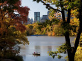 New York City, Manhattan, Central Park and the Grand Buildings across the Lake in Autumn, USA Photographic Print by Gavin Hellier