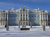 St Petersburg, Tsarskoye Selo, Catherine Palace Was Commissioned by the Empress Elizabeth, Russia Lámina fotográfica por Nick Laing
