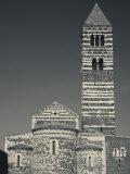 North Western Sardinia, Sassari Area, Basilica Della Santissima Trinita Di Saccargia, Italy Photographic Print by Walter Bibikow