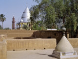 Grave of Al-Mahdi Lies Beneath the Large Mausoleum in Back, His Former Home Is in Foreground, Sudan Photographic Print by Nigel Pavitt