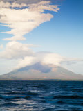 View from San Jorge of Conception Volcanoe, Ometepe Island, Nicaragua Photographie par Jane Sweeney