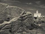 Sardinia, Northern Sardinia, Santa Teresa Di Gallura, Capo Testa, Lighthouse, Italy Photographic Print by Walter Bibikow