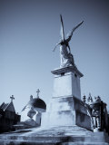 Buenos Aires, Recoleta, Recoleta Cemetery, Monument Detail, Argentina Photographic Print by Walter Bibikow