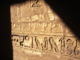 Hieroglyphics on Entrance to the Temple of Karnak Photographic Print by Mark Hannaford