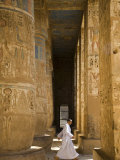 Columns of Ramses Iii's Mortuary Temple at Medinet Habu on the West Bank, Luxor, Egypt Photographic Print by Julian Love