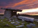 Poulnabrone Dolmen, the Burren, Co, Clare, Ireland Photographic Print by Doug Pearson