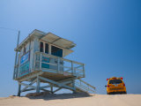 California, Los Angeles, Venice, Venice Beach, Lifeguard Station and Vehicle, USA Photographic Print by Alan Copson