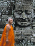 Bayon Temple, Angkor Wat, Siem Reap, Cambodia Photographic Print by Gavin Hellier