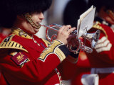 Trumpeter at Changing of the Guard, Buckingham Palace, London Photographic Print by John Warburton-lee