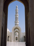 Entrance to the Grand Mosque, Built as a Gift to the People by Sultan Qaboos Photographic Print by John Warburton-lee