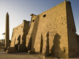 Dawn over the Impressive First Pylon of Luxor Temple, Egypt Photographic Print by Julian Love