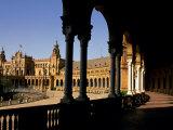 Elegant Facade of Plaza De Espana, Seville, Andalucia, Spain Photographic Print by Ian Aitken