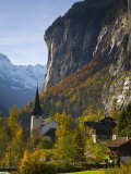 Lauterbrunnen Church, Berner Oberland, Switzerland Photographic Print by Doug Pearson
